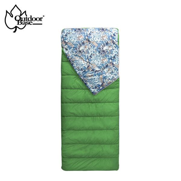 美國 Invista Thermolite 7孔 填充棉∣150g∣可雙拼【Outdoorbase】天光迷彩保暖睡袋 | 草綠色-22710