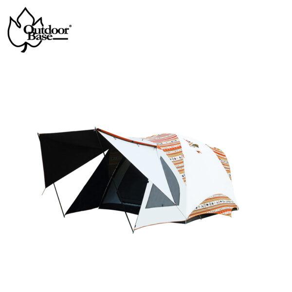彩繪天空300帳|300x300cm|黑黑帳UPF50+++|耐水壓10000mm【OutdoorBase】彩繪天空skypainter鋁合金300帳月光白23021